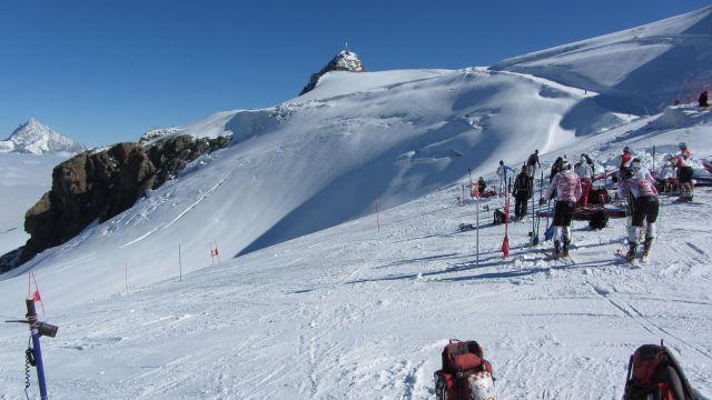 Zermatt narty latem Na lodowcu   (20)