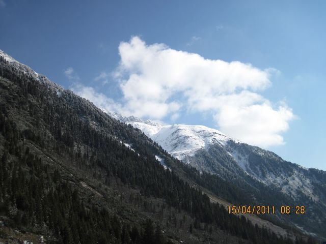 Panorama lodowca Stubai 2011